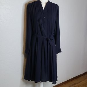NWT Nanette Lepore navy shirt dress size 12